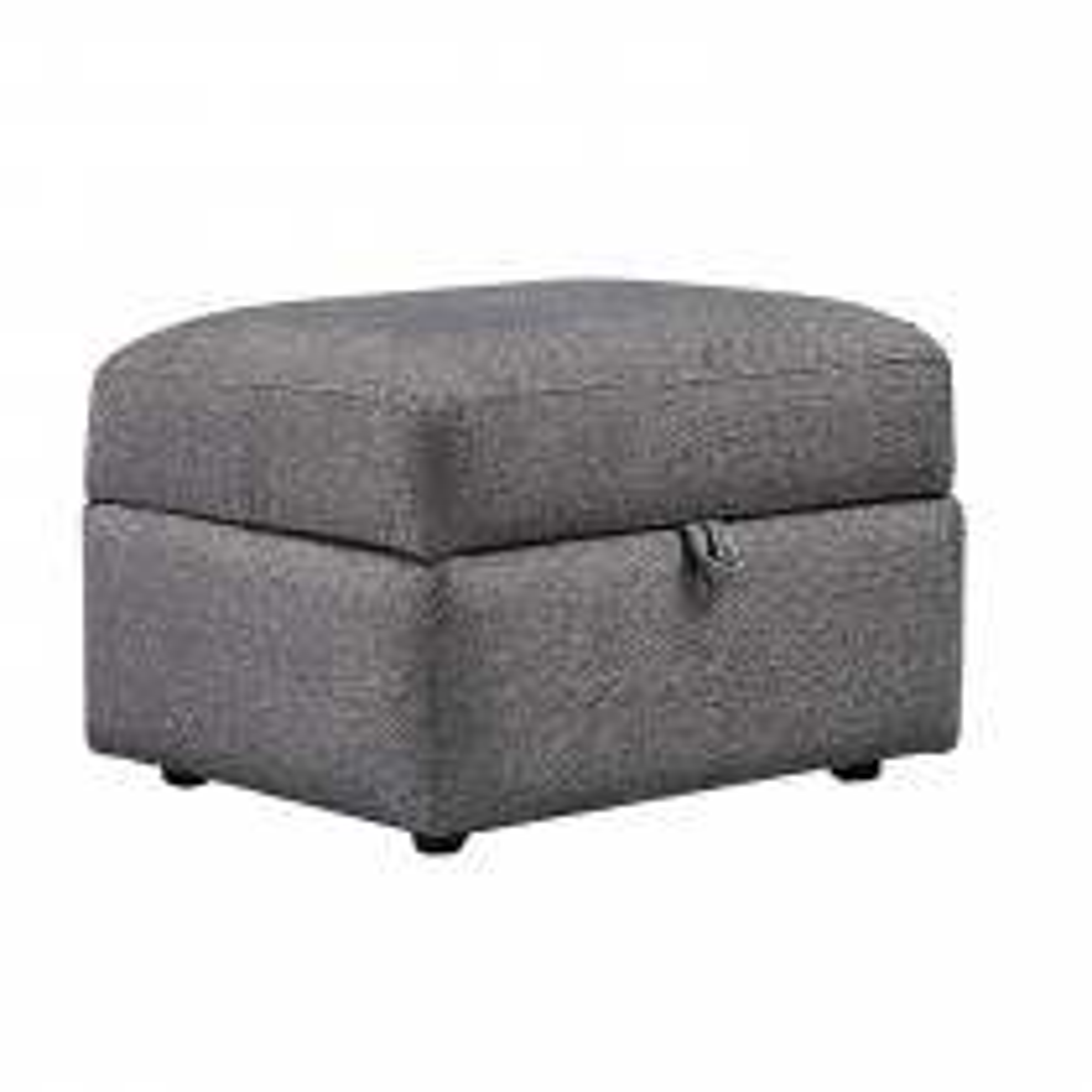 Casa Bourton Fabric Storage Footstool, Forge Heather