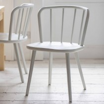 Garden Trading Set Of 2 Uley Dining Chairs, Chalk