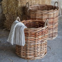 Garden Trading Set Of 2 Norton Rattan Baskets, Natural