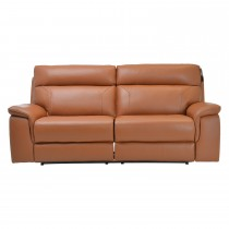 Casa Harry 3 Seater Power Recliner Leather Sofa, Brown