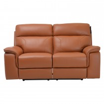 Casa Harry 2 Seater Power Recliner Leather Sofa, Brown