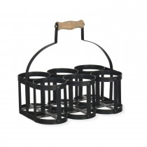 Garden Trading Milk Bottle Holder X 6, Carbon
