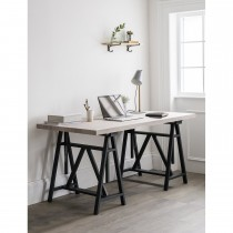 Garden Trading Workshop Trestle Desk, Carbon