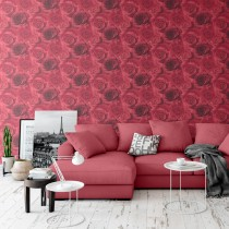 Muriva Madison Wallpaper, Red