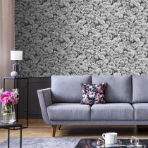 Muriva Rosalee Wallpaper, Grey