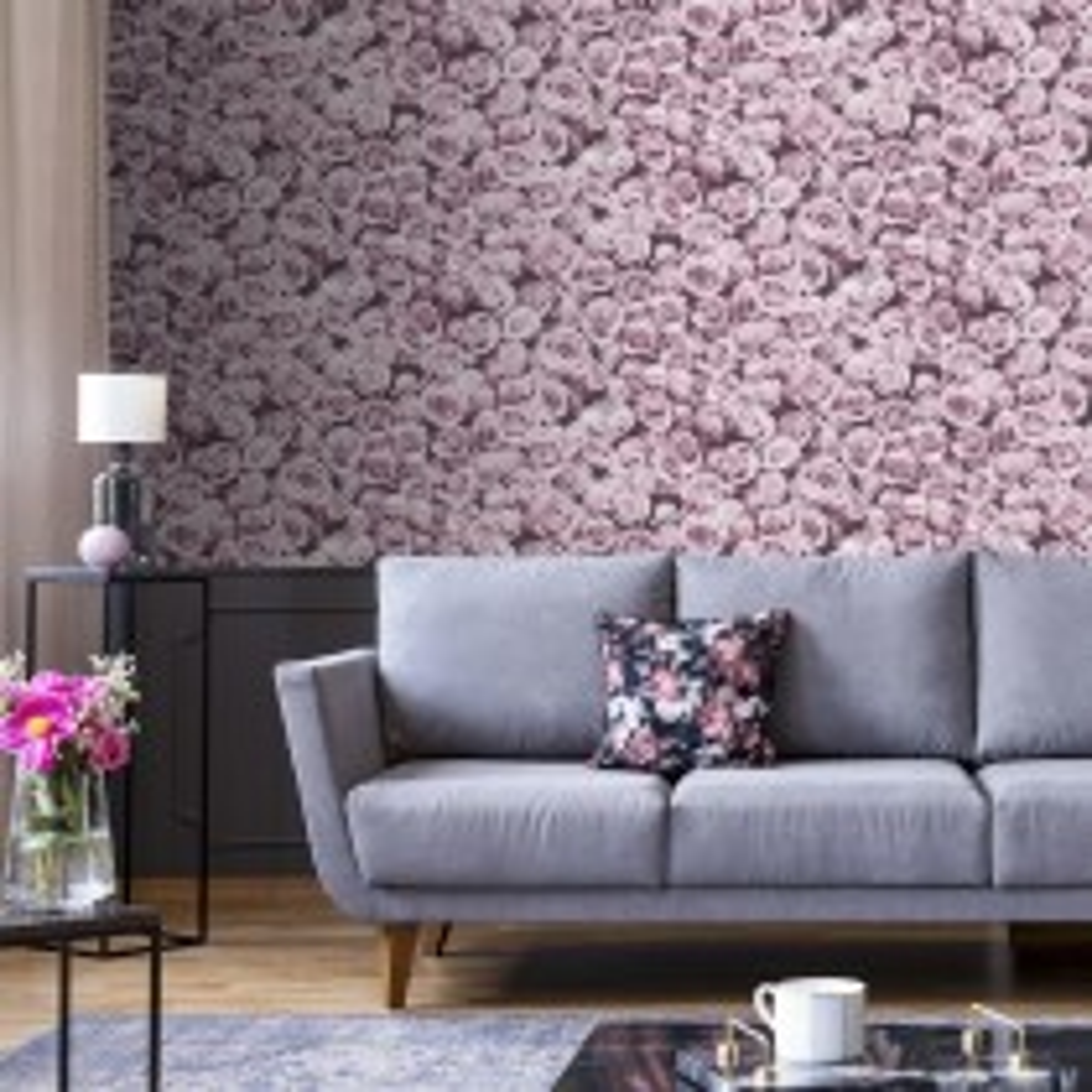 Muriva Rosalee Wallpaper, Pink