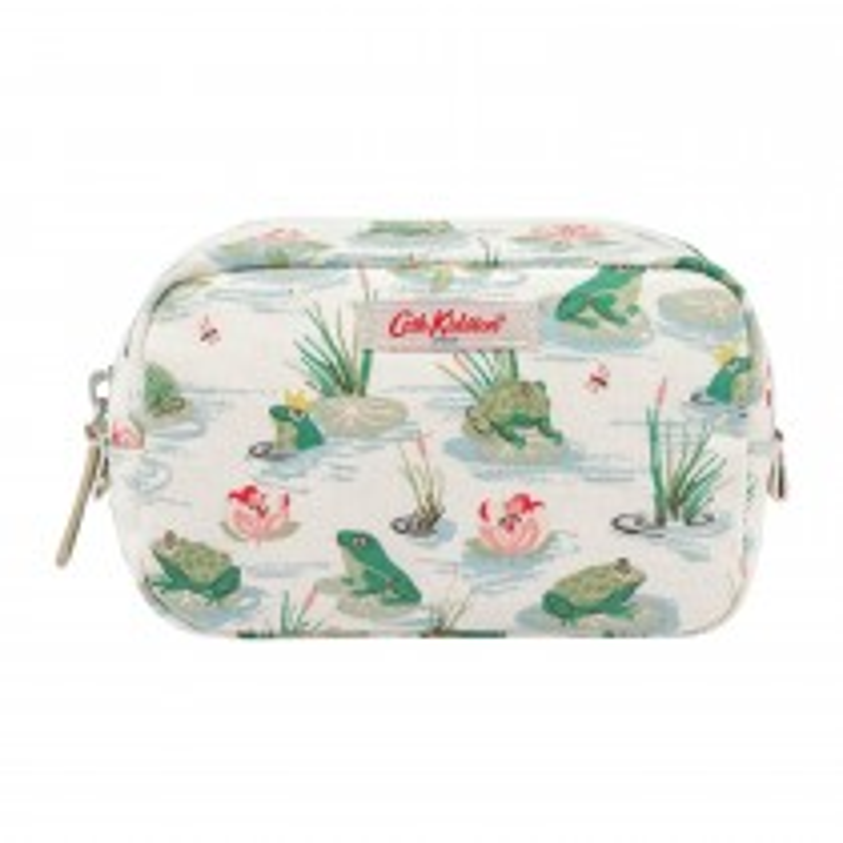 Cath Kidston Frogs Box Make Up Bag, Green/cream