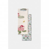 Cath Kidston Frogs Set Of Two Tea Towels, Green/cream
