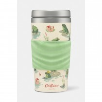 Cath Kidston Frogs Bamboo Travel Cup, Green/cream
