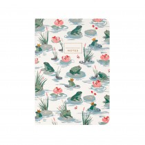 Cath Kidston Frogs A5 Notebook, Green/cream