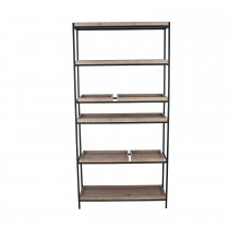 Pacific Lifestyle Wood And Metal 5 Shelf Unit