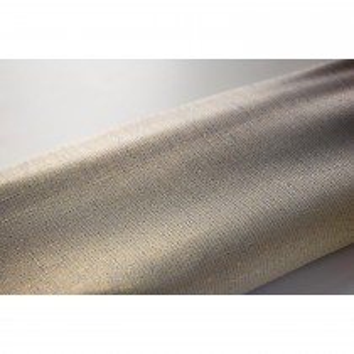 Euroshowers, Gold Thread Shower Curtain, White