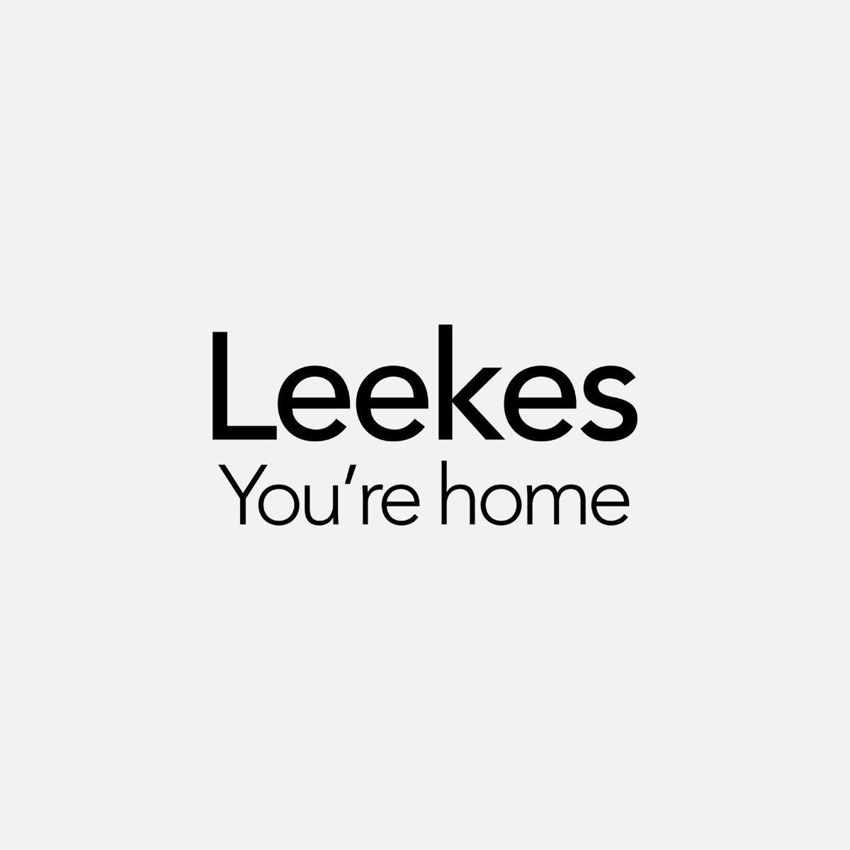 Euroshowers, Faux Silk Shower Curtain, White