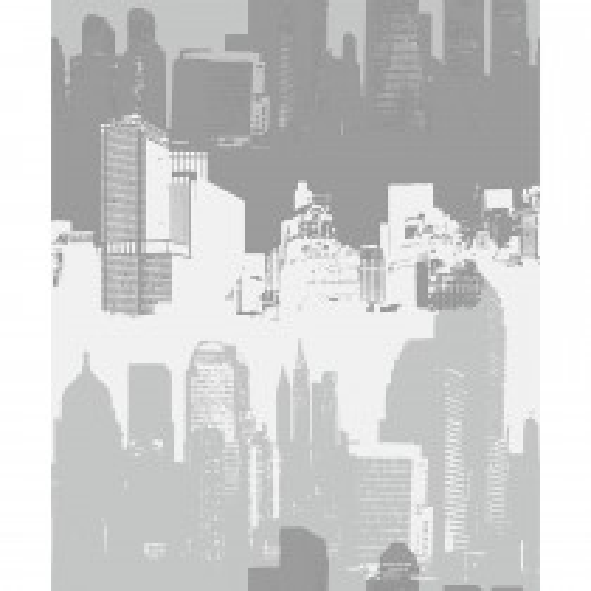 Catherine Lansfield Cityscape Wallpaper, Silver