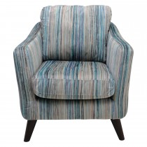 Casa Seattle Fabric Accent Chair, Channelle Granis Aqua
