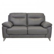 Casa Maya 2 Seater Leather Sofa, Rangers Charcoal