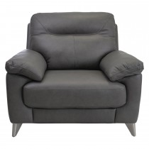 Casa Maya Leather Chair, Rangers Charcoal