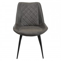 Casa Brent Leather Dining Chair, Grey