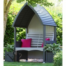 AFK Cottage Arbour Charcoal/stone, Charcoal& Stone