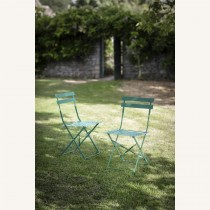 Garden Trading Pair Of Bistro Chairs, Green