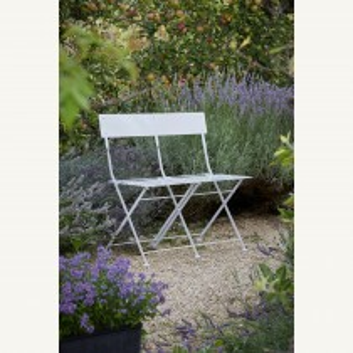 Garden Trading Folding Bistro Bench, Chalk