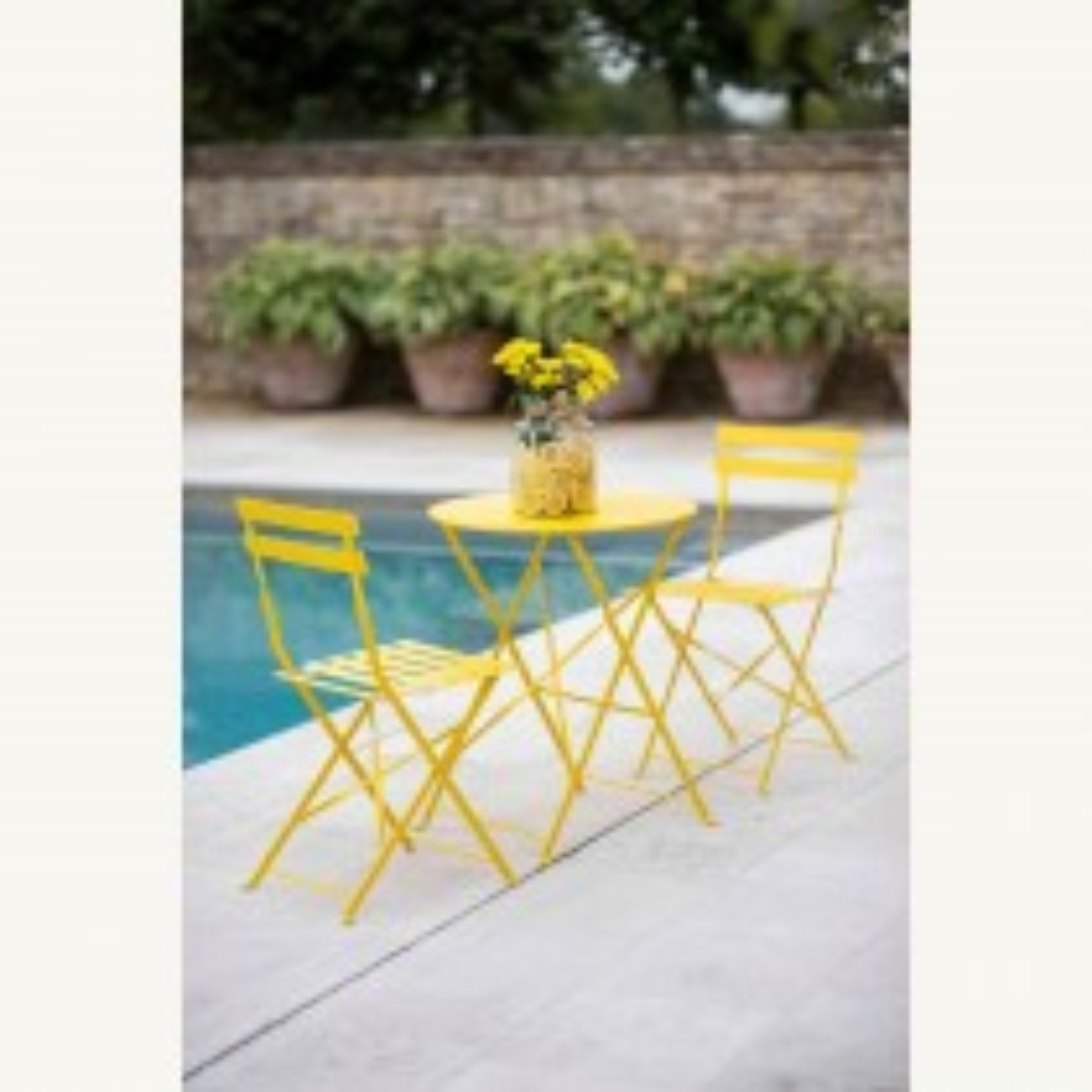 Garden Trading Rive Droite Bistro Set, Small, Lemon