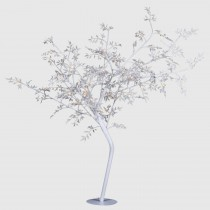 Coach House Leaves Lit Tree, White