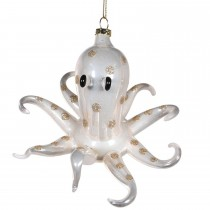 Coach House Glass Hanging Octopus Bauble