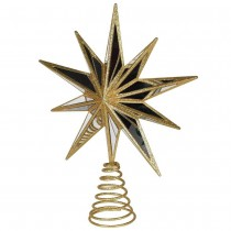 Coach House Star Tree Topper, Gold