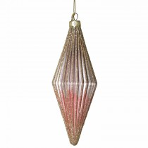 Coach House Ribbed Bauble, Pink