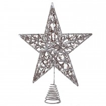 Coach House Star Tree Topper, Silver
