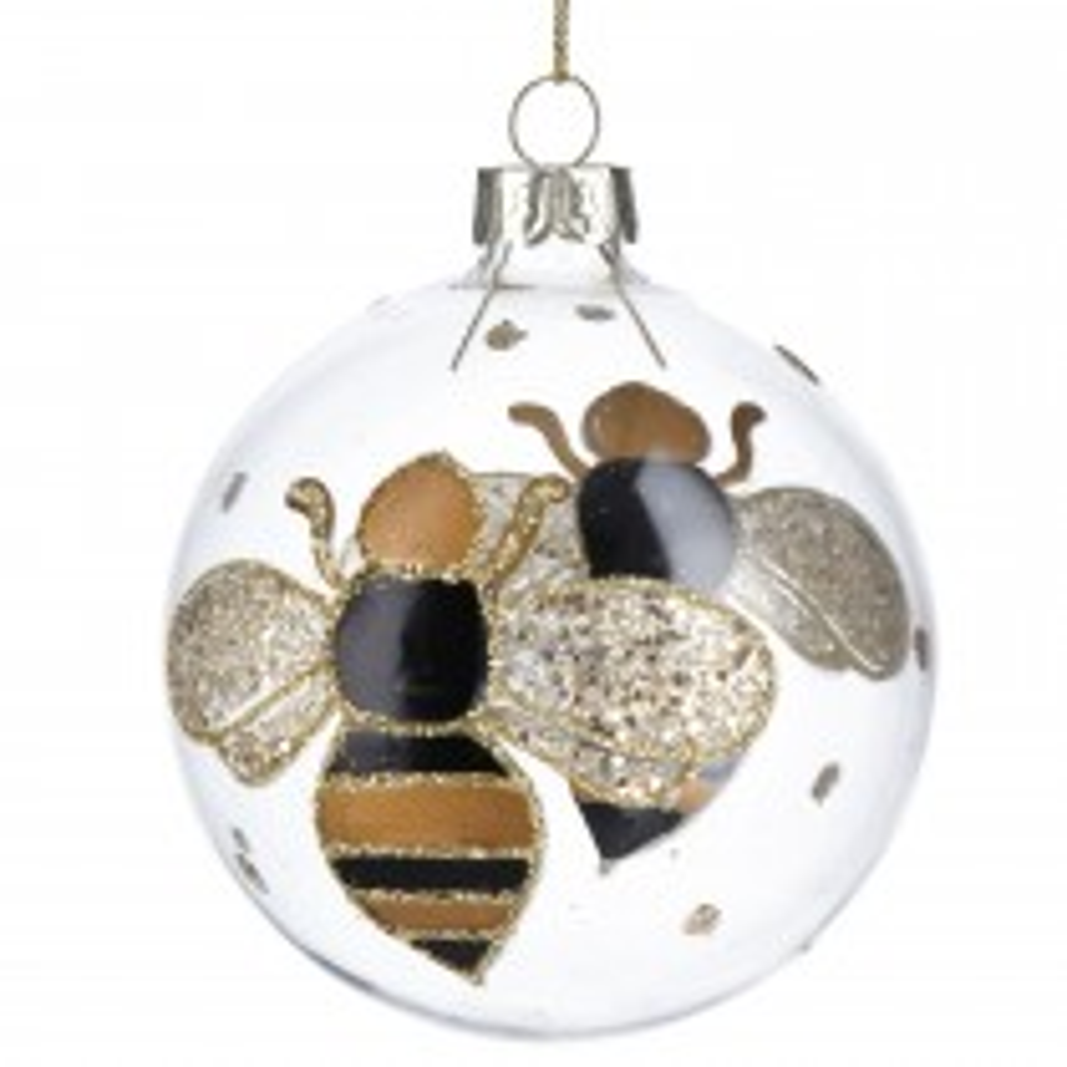 Gisela Graham Glass Bumble Bee Ball Bauble