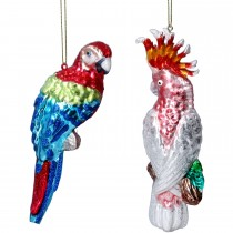 Gisela Graham Painted Parrot Cockatoo Bauble