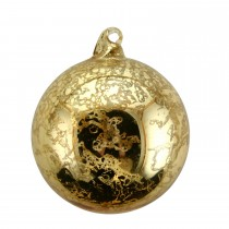 Gisela Graham Clear Antique Ball Bauble, Gold