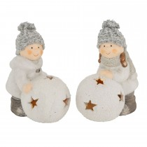 Boltze Chrisy Child With Led Snowball