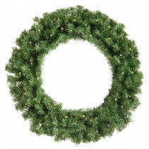 Festive Battery Operated Lit Wreath