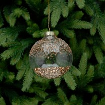 Festive Glass Bauble With Sequins