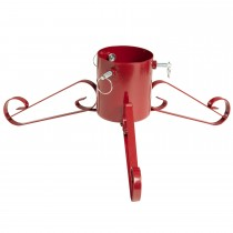 Festive Metal Christmas Tree Stand, Red