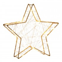 Festive Battery Operated Lit Star, Warm White