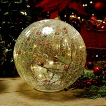 Festive Battery Operated Crackle Berries Ball