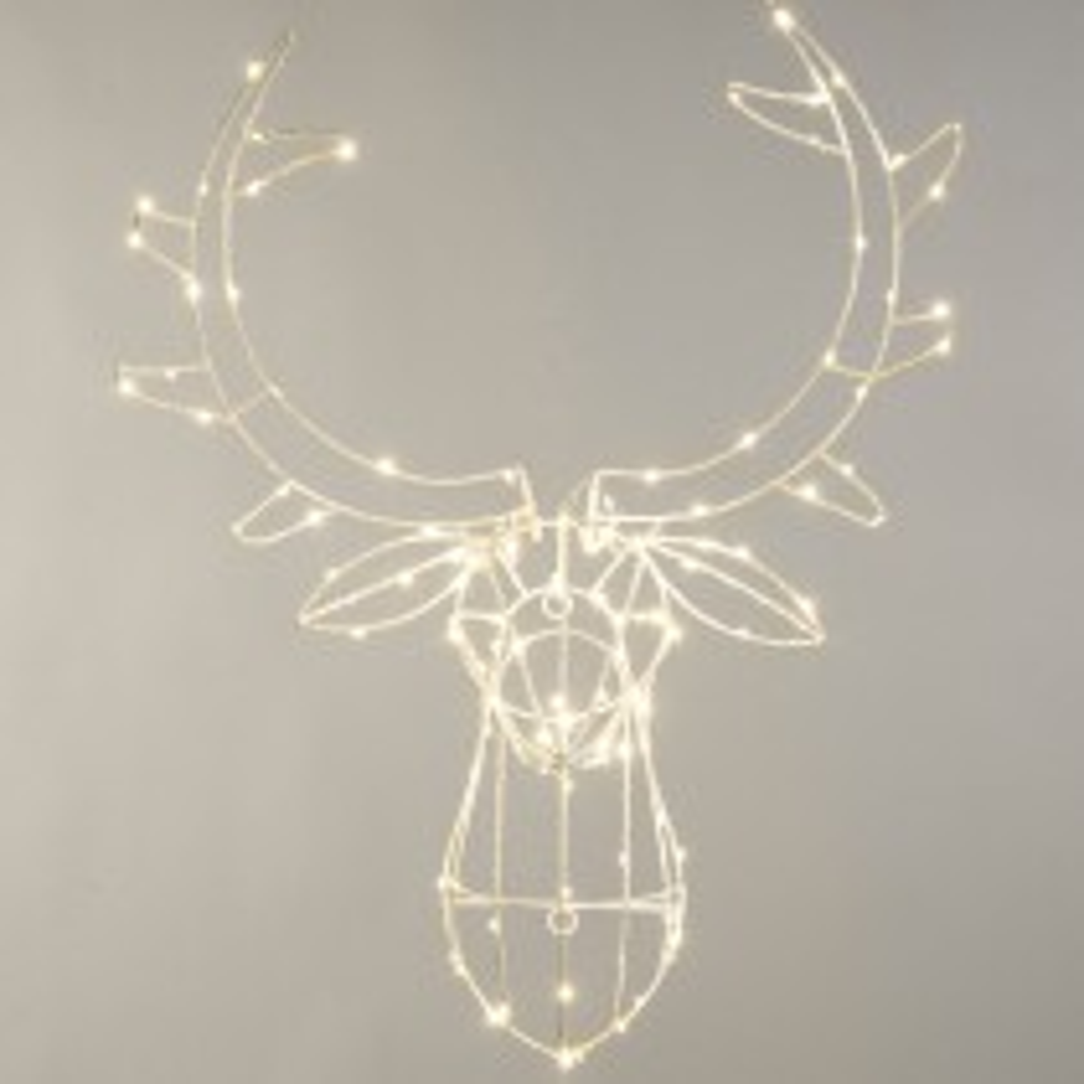 Festive Lit Reindeer Head, Warm White