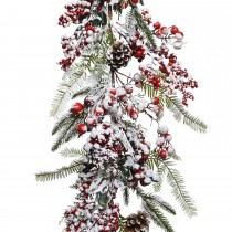 Kaemingk Deco Frosted Red Berries Garland