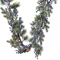 Kaemingk Frosted Deco Garland Blue Berry