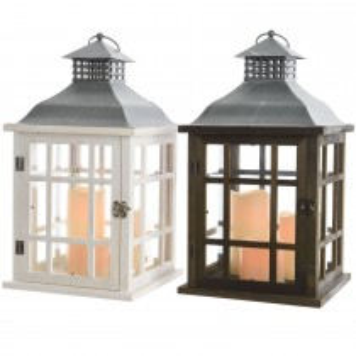 Kaemingk Led Wooden Battery Operated Lantern