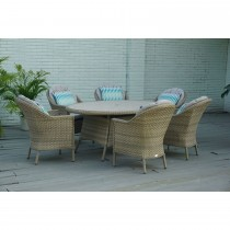 Bramblecrest Ledbury 6 Seater Outdoor Dining Set, Grey