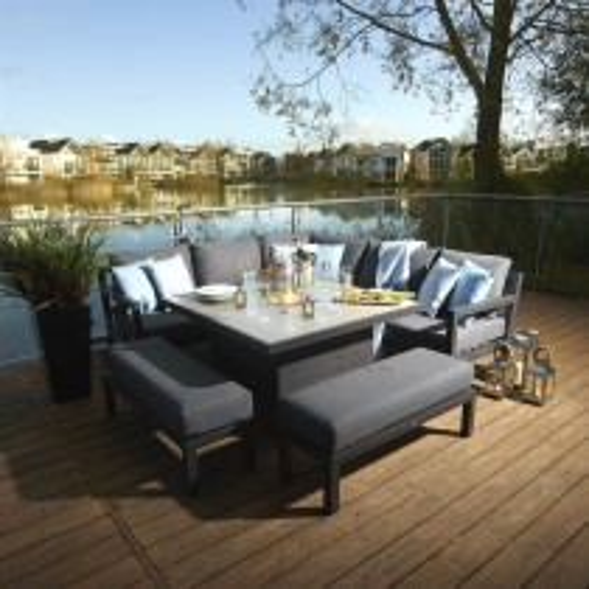 Bramblecrest La Rochelle Modular Sofa & Firepit Table Set