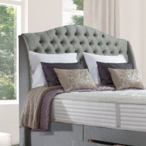 Sealy Richmond Headboard King, Dark Steel