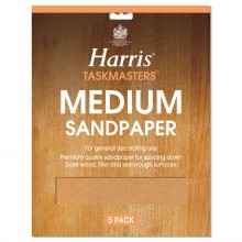 Harris Medium Sandpaper Pack of 5