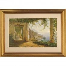 Complete Colour View To Amalfi Framed Art