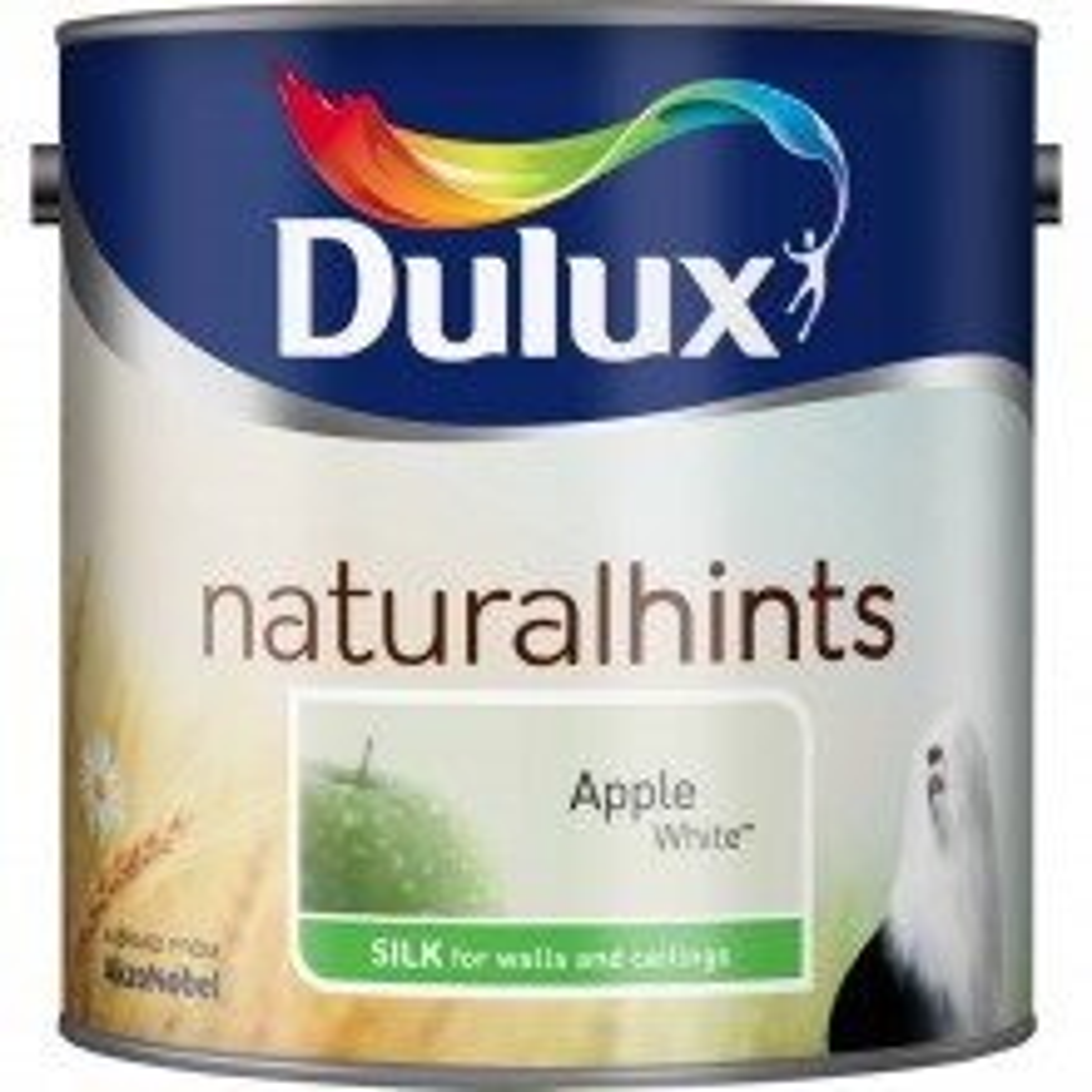 Dulux 2.5l Silk Standard Emulsion Paint, Apple White